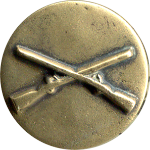 Crossed Rifles Collar Disk