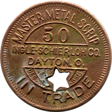 Falcon Field 50 Cent Token - Back