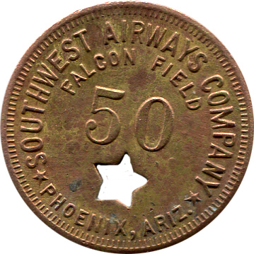 Falcon Field 50 Cent Token - Front