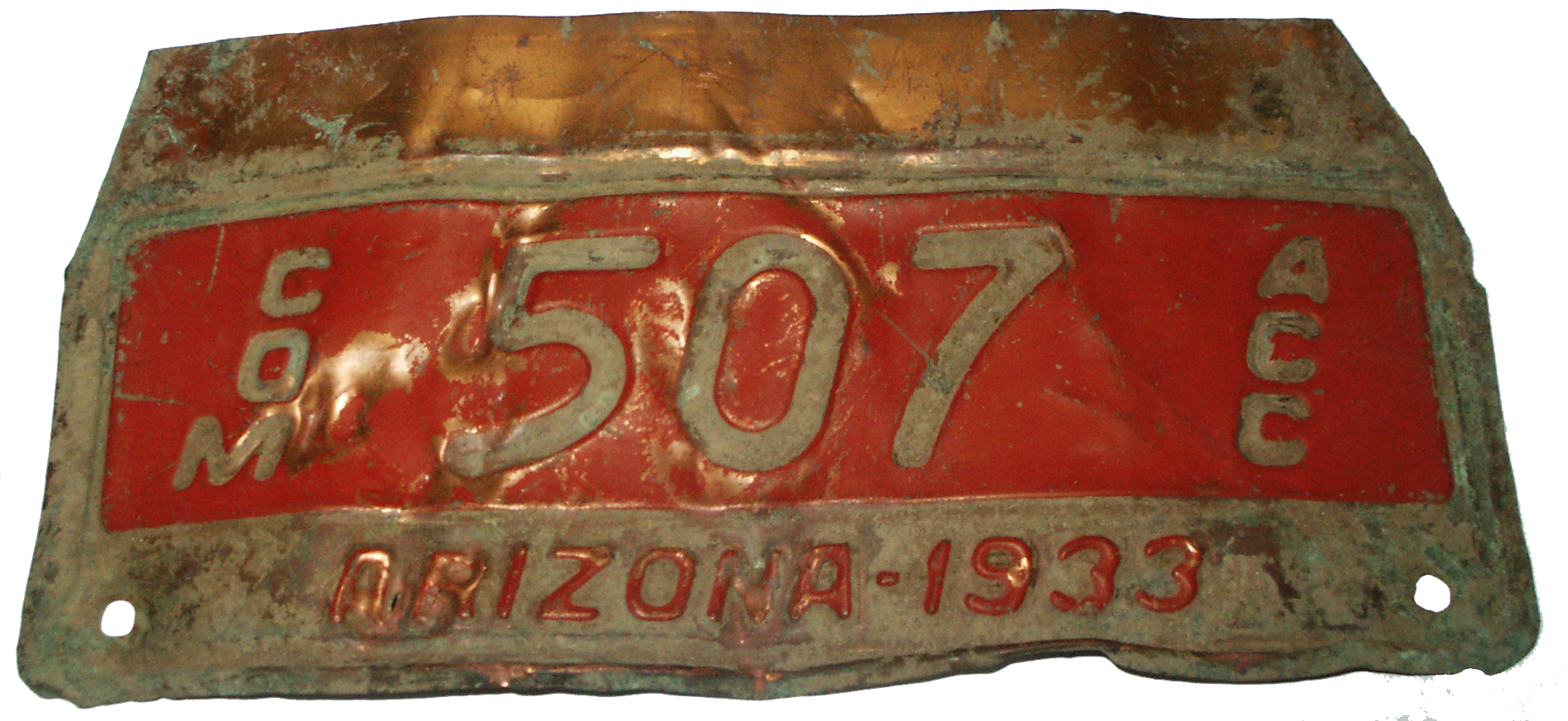 1933 License Plate