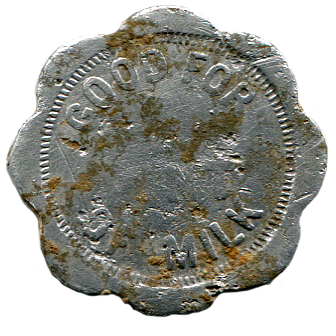Winslow Dairy Token - Back