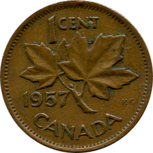 1956 Canadian Penny