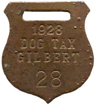 1928 Gilber Dog Tax