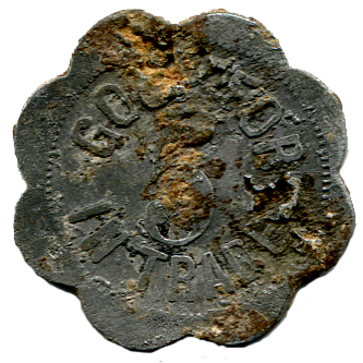 Log Cabin Bar Token - back