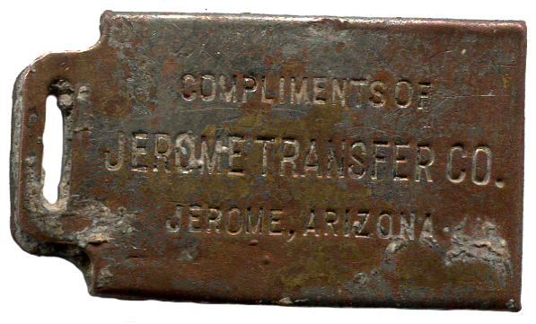 Jerome Transfer Co Luggage Tag