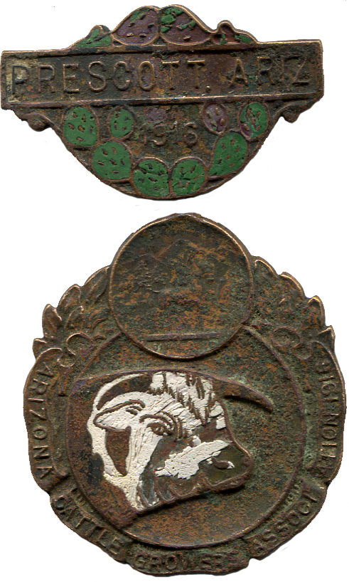 1916 Prescott, Ariz. Arizona Cattle Growers Association Badge