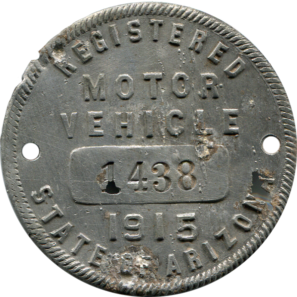 1915 AZ Registration Tag