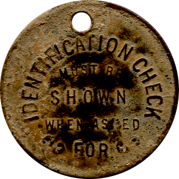 Victor American ID Tag - Back