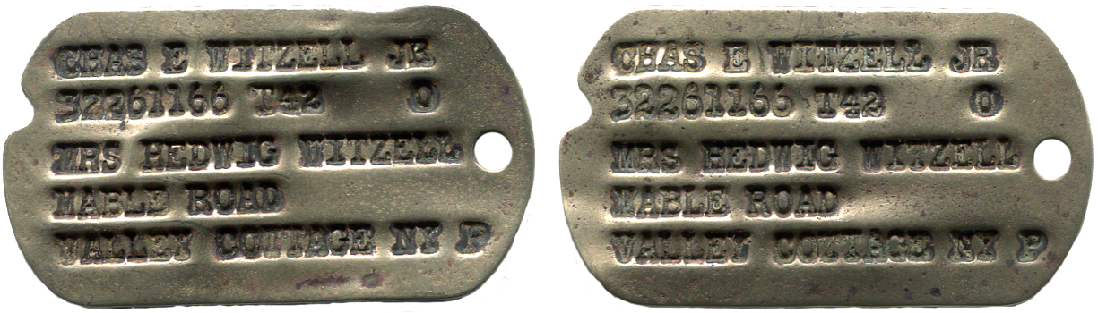 Set of WWII Dog Tags