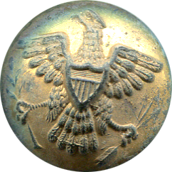 Large Gilt Eagle Button