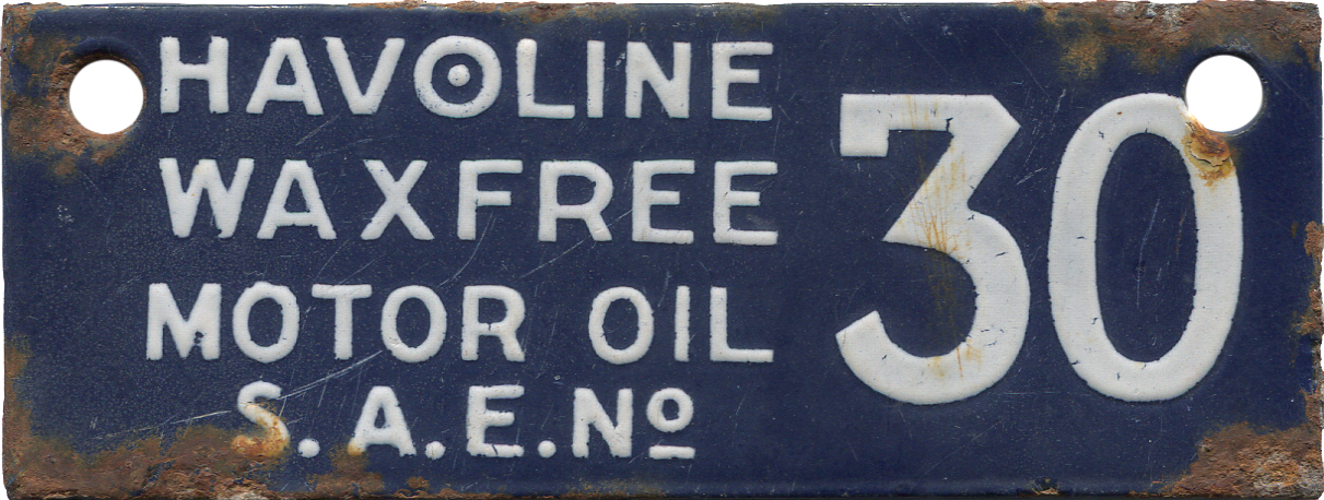 Havoline Oil Tag