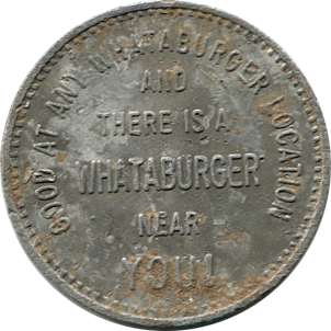 What-A-Burger Token - Back