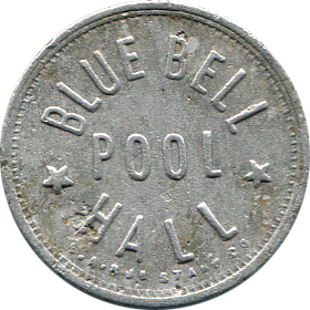 Blue Bell Pool Hall Token - Front