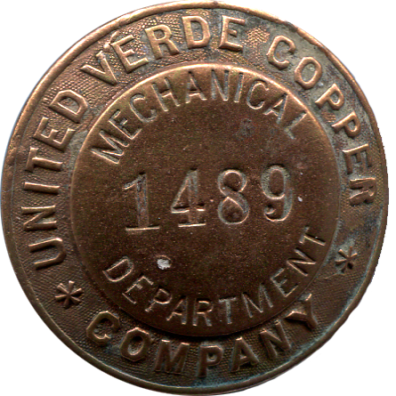 United Verde Copper Comany Badge