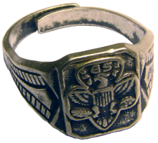 Silver Girl Scout Ring