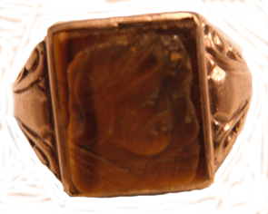 10 k Tiger Eye Ring