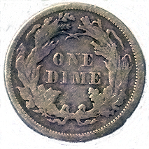 1869 Seated Liberty Dime - Reverse