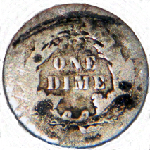 1888 Seated Liberty Dime - Reverse