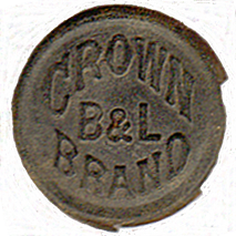 B&L Crown Brand Button