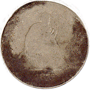 1876 Seated Quarter - Front