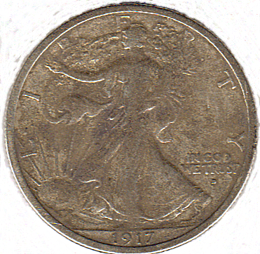 1917 D Walking Liberty - Front