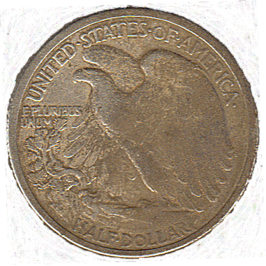 1917 D Walking Liberty - Reverse