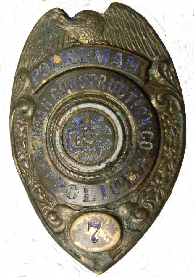 Utah Construction Police Badge