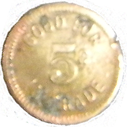 Goodyear 5 Cent Token