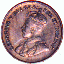 1927 Canadian 1 Cent - Obverse