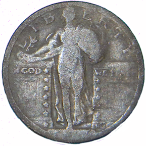 1925 Standing Liberty Quarter - Obverse