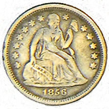 1856 Seated Liberty Dime - Obverse