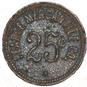 Pearce Mercantile Token - Obverse