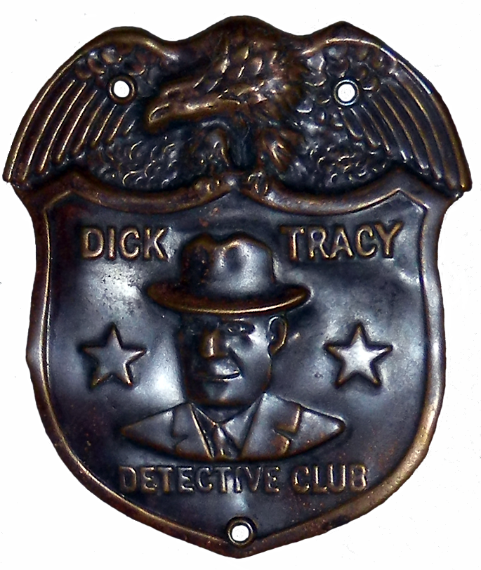 1936 Dick Tracy Badge