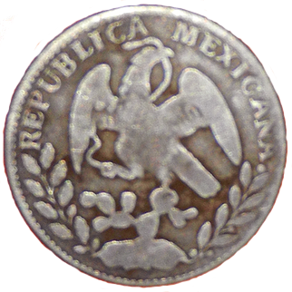 1859 Mexican 2 Reale - Reverse