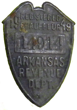 1949 Arkansas Chauffeur License