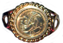 10 kt Gold Coin Ring