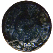 1843 Seated Liberty Half Dime - Obverse