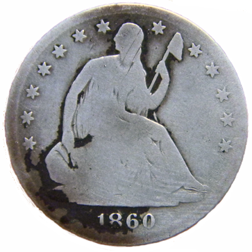 1860 S Seated Liberty Half - Obverse
