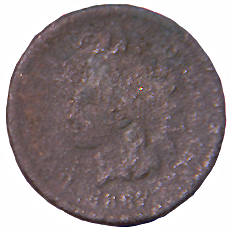 1867 Indian Head Cent - Obverse