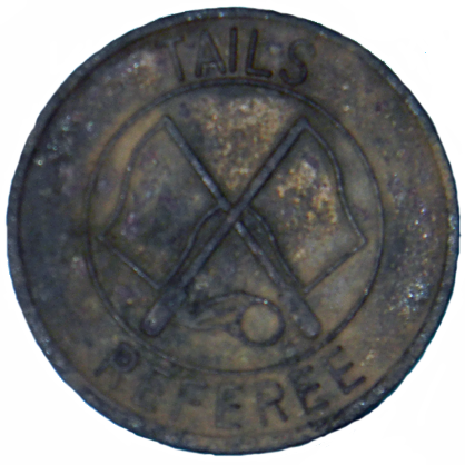 Soccer Referee Coin - Reverse