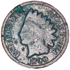 1890 Indian Head Cent - Obverse