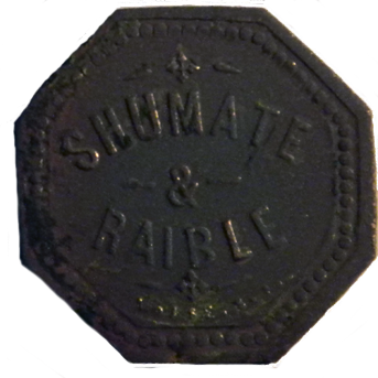 Shumate and Raible Token - Obverse