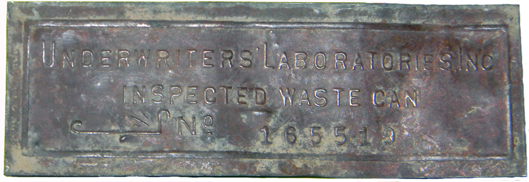 Undrwriters Plate