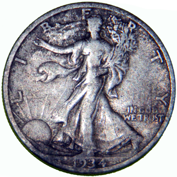 1934 Walking Liberty Half - Obverse
