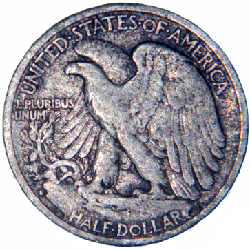 1934 Walking Liberty Half - Reverse