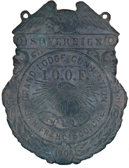 1904 Odd Fellows Convention Badge
