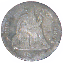 188_ Seated Liberty Dime - Obverse