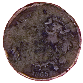 1865 Two Cent - Obverse