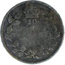 1915 Canadian Dime - Reverse