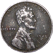1943 D Wheat Cent - Obverse